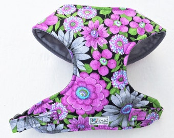 Floral Comfort Soft Dog Harness - Made to Order -