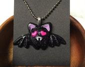 Kawaii Bat Resin Necklace (1)