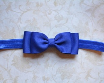 Royal Blue Bow Headband. Royal Baby Headband. Baby Hair Accessories. Baby Headband. Girls Hair Accessories. Baby Girls Hair Accessories