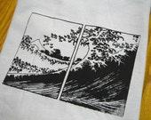 Mt. Fuji Japan Inspired Screenprinted T-Shirt