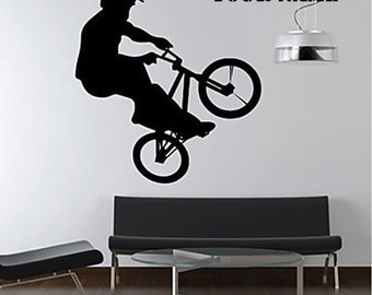 Extreme bike sports game----Art Home Decor Murals Vinyl Decals Wall Stickers