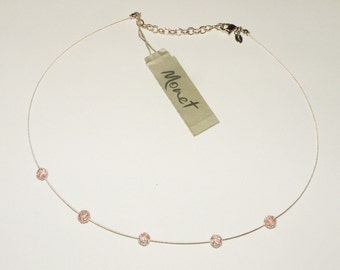 Vintage Monet Crystal Beaded Necklace 15 inch Vintage Wedding Vintage bride Bridal Jewelry