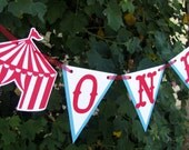 Circus Highchair Banner, Circus First Birthday Banner, Carnival First Birthday Banner, Carnival Highchair Banner, Photo Prop - MADE TO ORDER