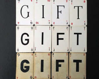 Give the GIFT of so many fonts. Vintage French letter cards set.
