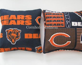 Chicago BEARS NFL Cornhole Bags Corn hole Corn Toss Baggo Set of 8