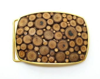 Gold and Wood Belt Buckle