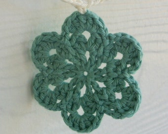 Blue Crochet Flower Garland