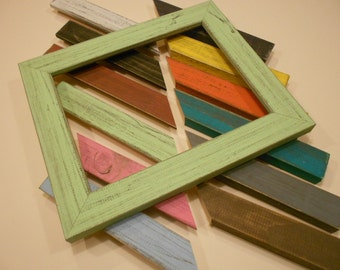 Barn Wood Picture Frames - Distressed Wood Photo Frames - Rustic Photo Frame