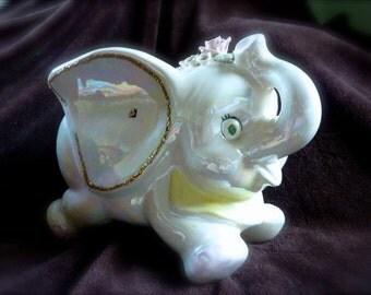 Vintage Elephant Piggy Coin Bank Money Super Cute