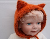 Knit Foxy Bonnet. 6 months