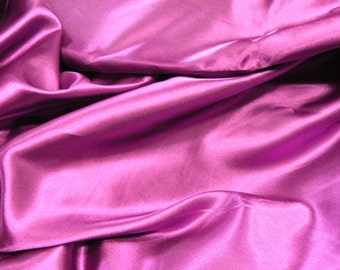 Magenta Satin Fabric 2 yds.