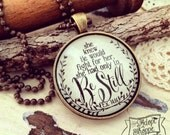 she knew He would fight for her, she had only to be still (Exodus 14:14) necklace