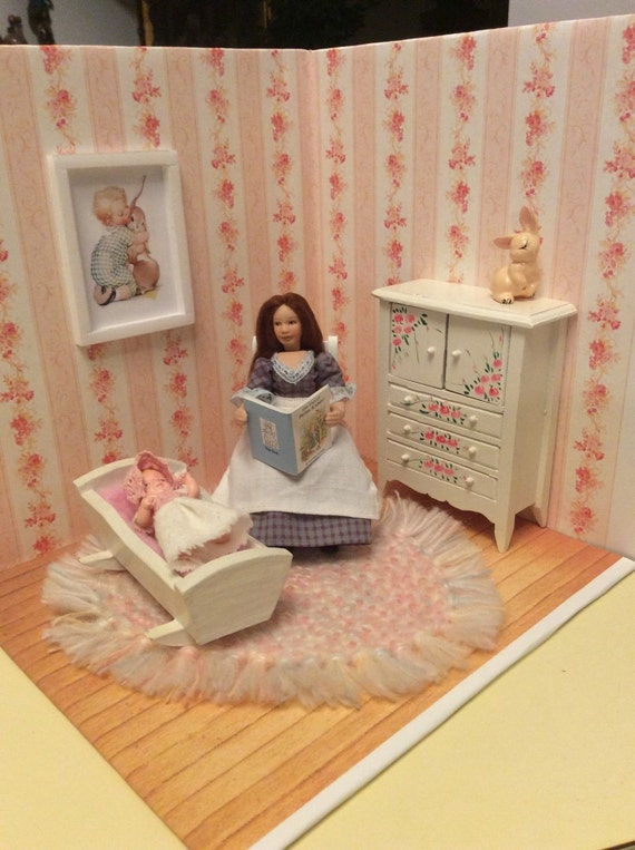 Baby Bedroom In A Box Special: Items Similar To 1:12 Scale Dollhouse Miniature Nursery