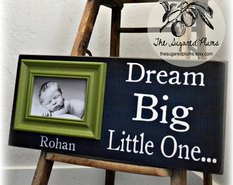 Baby Gifts, Personalized Baby Gift, Unique Baby Gift, New Baby Gift, Baby Frame, Personalized Baby Frame, Baby Boy, 8x20 The Sugared Plums