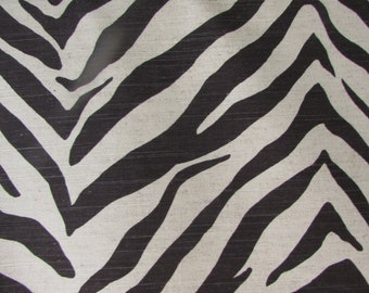 TIGRESS in black Linen cotton designer multipurpose fabric