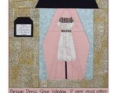 Parisian Dress Shop Window Paper Pieced Pattern