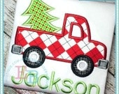 Christmas Tree Truck Applique Shirt - Christmas Shirt - Personalized Embroidery