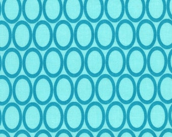 Remix Ovals Water by Ann Kelle for Robert Kaufman, 1/2 yard
