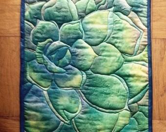Succulent 1 wall quilt 12x18