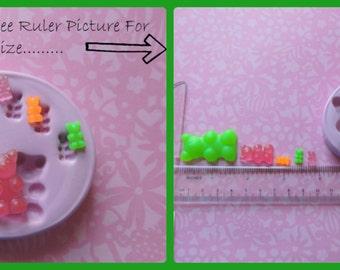 Gummy Bear Mold Candy Silicone Mold Fondant Clay Resin Fake Sweets Kawaii Cabochon Mould