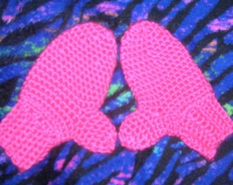 Pink Mittens Hot Pink Crochet Mittens Child