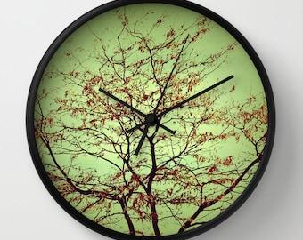 Art Wall Clock Modern Fall fine art photography home decor