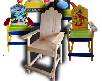 Adirondack Barstool  PLANS -Chair Plans Available