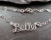 Sterling Silver Attached Name Anklet or Bracelet, Personalized