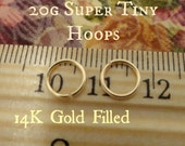 Super Tiny Gold Filled Hoops