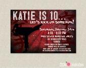 Girls Karate Birthday Party Invitation - Karate Birthday Invitation - Martial Arts Invitation - Girls Martial Arts Birthday Invitation