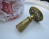 Filigree Lipstick Holder - Romantic Victorian Style - Vanity - Oak Hill Vintage