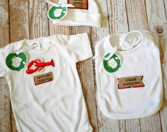 Cajun Baby Three Piece Newborn Set