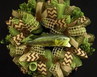 Elegant Wreaths,  Everyday Wreaths, Poly Mesh Wreath, Deco Mesh Wreath, Front Door Wreath (1088)