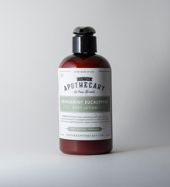 Peppermint Eucalyptus Essential Oil Body Lotion
