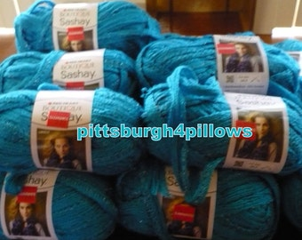 Sashay Ribbon - Red Heart - ( Scarfs ) - Boutique Yarn - 3.5 Ozs. - 30 Yards - Read Below -  Price Is For 1 - Never Used - Turquoise - 1502