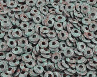 Ceramic-10mm Donut-Antique Splash-Quantity 20