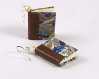 Classic Miniature Book Earrings