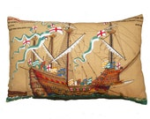 Vintage Mary Rose Ship Cushion/ Pillow