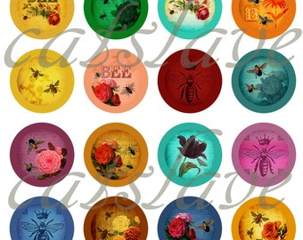 """Bee Pins, Bee Magnets, Bee Cabochons, Bee Club Pins, Bee Party Favors, 1"""" Inch, 12 ct"""