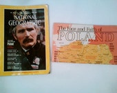 National Geographic magazine WITH map supplement Poland April 1982