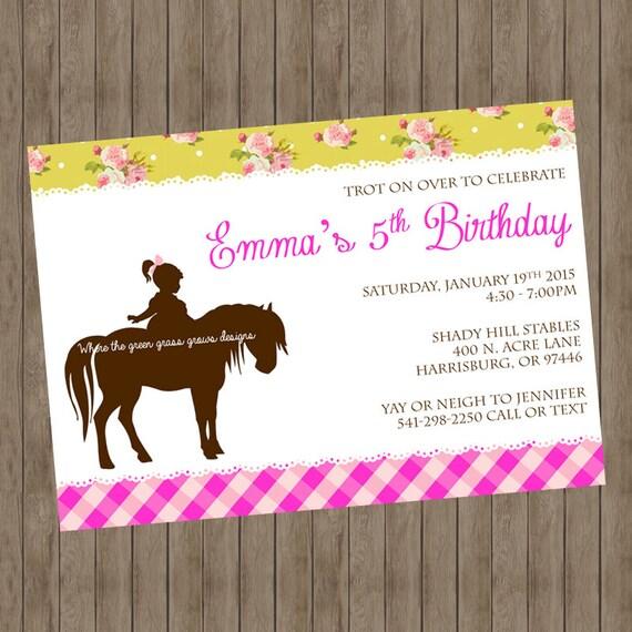 Pony Printable Invitation