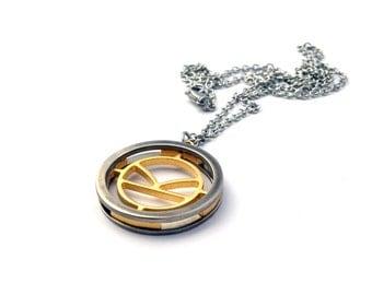 Kingsman Necklace - Handmade - Stainless Steel / Brass