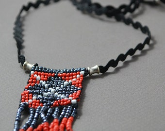 Necklace, Seed Bead Necklace, Handmade Necklace, Friendship Necklace, Loomed Necklace, Bead Loom Necklace