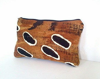 Oversized Mudcloth Clutch Purse, African Mud Cloth Fabric, Oversized Clutch, Animal Print
