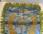Vintage Silk My Wife Souvenir Silk Pillowcase Canada Souvenir Pillow case Fringe Decor