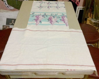 Two Vintage Kitchen Towels 1940s and 1950s