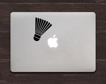 Badminton Shuttlecock Vinyl MacBook Decal BAS-0301