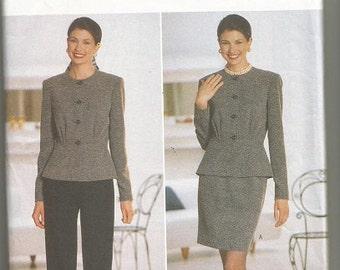 Butterick 5145 David Warren  Pants, Skirt, Jacket Pattern SZ 12-16