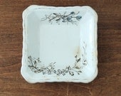 SQUARE white ironstone Dianthus dish by Wedgwood and Co.