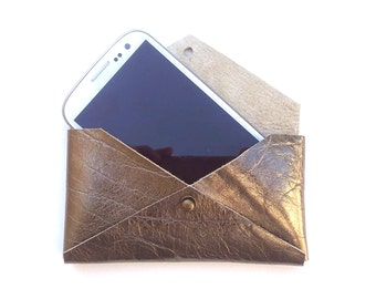 Leather Case Holder for mobile phone, cell phone case, iphone wallet, gift for him/her